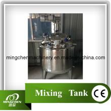 Tanque de mistura de aço inoxidável com revestimento duplo