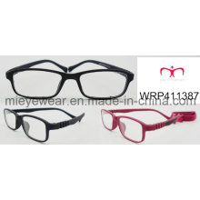 New Fashion Rubber Finish Rubber Temple Lunettes pour enfants Eyewearframe Optical Frame (WRP411387)