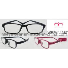 Nova borracha de moda de acabamento de borracha templo crianças óculos Eyewearframe moldura óptica (wrp411387)