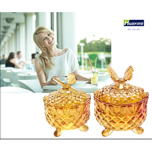 Crystal Design Klarglas Candy jar