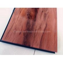 Plancher de clic de vinyle de PVC biseauté de bord