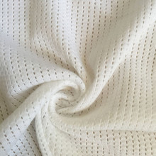 White cotton fancy mesh Knitting fabric baby fabric