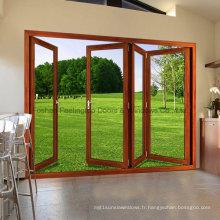 Feelingtop double isolation vitrage aluminium / aluminium lourde porte pliante