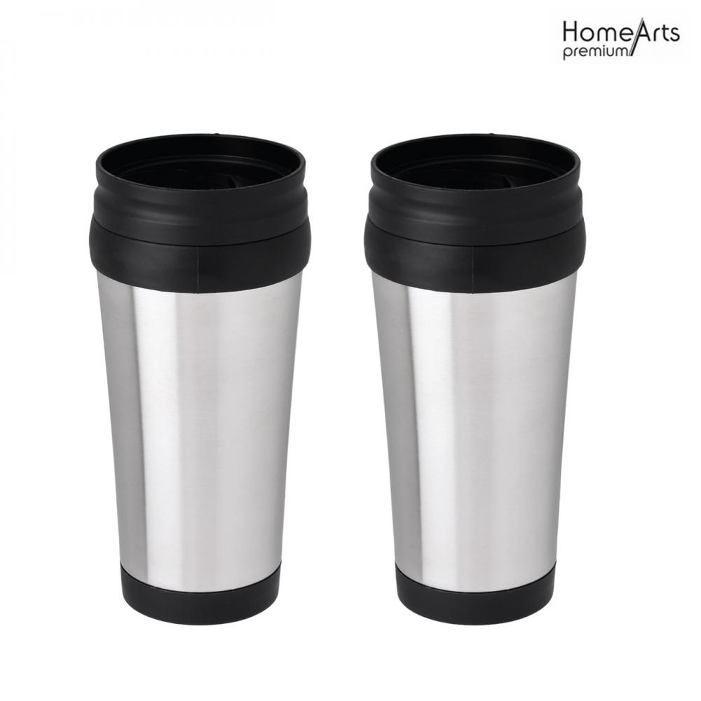16oz Stainless Steel Travel Mug Tumbler with Waterproof Lid