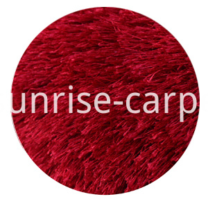 Viscose Shaggy Lone pile Red