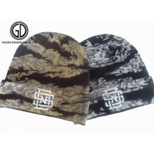 Chapéu de malha de moda Knitted Winter Beanie Hat com bordado