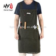 Avental longo prático da ferramenta do Multi-bolso avental imprimido 100% algodão