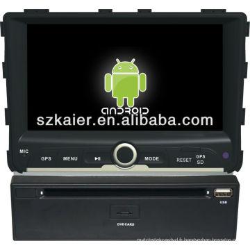 Android System lecteur dvd de voiture pour Ssangyong Rexton avec GPS, Bluetooth, 3G, ipod, jeux, double zone, contrôle du volant