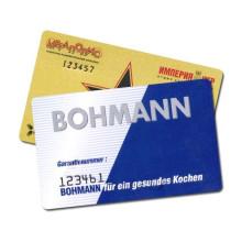 Tarjeta de tarjeta inteligente de código de barras de impresión de la tarjeta