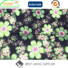 Beautiful Flower Polyester Print Lining with High Quality