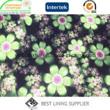 Красивый цветок печати полиэфира Подкладка с высоким качеством