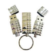 Portachiavi Flash USB in metallo impermeabile da 32 GB
