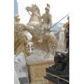 Escultura tallada en piedra de la estatua del guerrero del mármol para la decoración del jardín (SY-X1310)