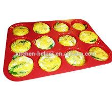 China Professional Hersteller Custom FDA Food Grade Antihaft Hitzebeständige Mini Cupcake Silikon Muffin Pan
