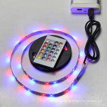 controle remoto interno flexível RGB IP68 DC 5V à prova d 'água ao ar livre levou TV tiras de iluminação