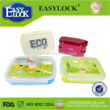promoción colorida caja de almuerzo calentada con cuchara y tenedor