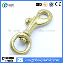 Hot Sale Cheap solid brass swivel eye snap hook
