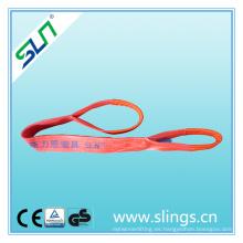 Factor de seguridad 6: 1 5tx2m Eye Eye Tipo Cinturón de elevación de poliéster
