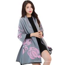 2017 hiver couleur unie impression numérique tournesol faux cachemire inde pashmina foulards italie cachemire écharpe pashmina ponchos