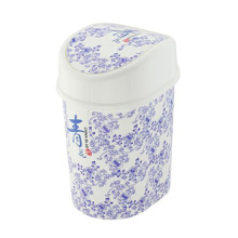 Porcelana azul e branca estilo China Flip no compartimento de lixo (FF-5233)