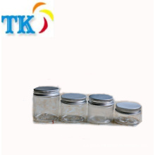60ml plastic jar PET clear plastic cosmetic bottle food grade