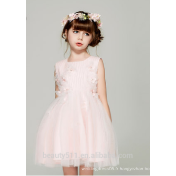 Plus de taille fille de fleur robe de soirée scoop encolure manches sans bretelles filles dans une robe de nuit chaude ED781