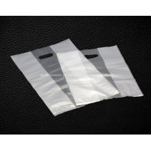 Sacos de compras de plástico transparente