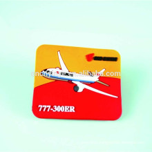 cheap customized airplane shaped pvc crystal glass rubber fridge magnet
