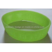 Soft PVC Light Green Sport Bracelet