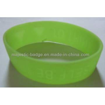 Soft PVC Light Green Sport Bracelet