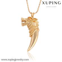 32503 Xuping jóias de ouro personalizado pingente em forma de cabeça de animal