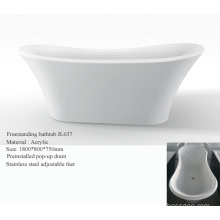 Double Slipper Freestanding Acrylic Bathtub
