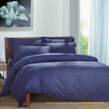 Satin Strip Hotel Cotton Bedding Set with Comforter Set (WS-2016052)