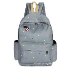 Alta qualidade promocional nylon escola mochila saco de estudante