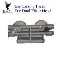 A injeção de alumínio morre componentes da carcaça para a cabeça dupla do filtro