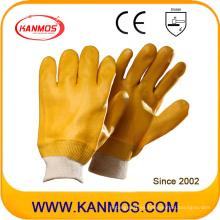 Resistencia a los ácidos PVC Guantes de trabajo industriales de seguridad de mano (51202)