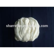 Ruban de soie de tussah blanchi à 100%