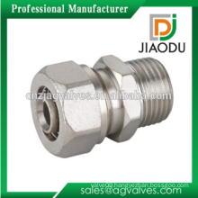 Best quality nickel plating brass straight 16mm or 20mm or 25mm compression fittings adapter for pex al pex pipe