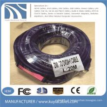DVI para DVI24 + 1 Cabo HDMI Chip com fonte de alimentação USB 20m para o projeto