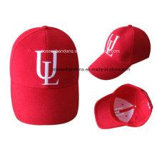 Gorra de béisbol bordada logotipo modificado para requisitos particulares de la tela cruzada del algodón