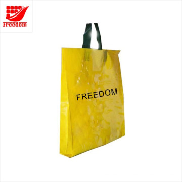 Saco de compras plástico personalizado do PE da impressão do logotipo