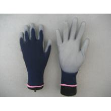 Темно-синий 13Г с полиуретановым покрытием работы перчатки безопасности