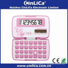 JS-28H rosa kids love calculadora com capa, calculadoras baratas à venda