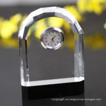 Mesa de moda y decoración de escritorio Regalo de promoción barato Reloj de cristal