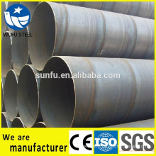 Spiral SSAW S235JR steel pipe for oil and gas fluid transportation