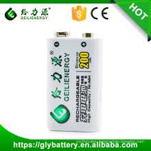 Geilienergy Factory Oem Ni-mh Rechargeable 9V Battery Pack 200mAh