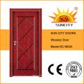 Экономической покраска межкомнатных шпон деревянные двери (СК-W045)