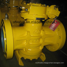 ANSI Standard 600lb High Pressure Gear Operation Plug Valve