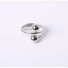 Bague en bijoux de style simple avec plaqué rhodium