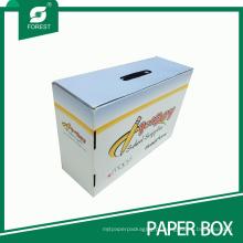 De boa qualidade Caixa de embalagem de papel impressa com alça (FP200093)